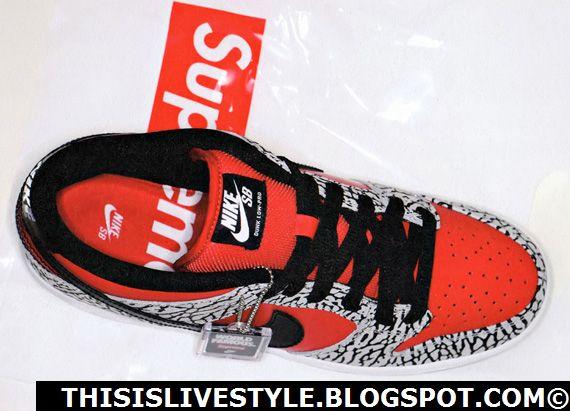 Suprême X Nike Dunk Sb Bas 2012 Chevy à vendre tumblr visiter le nouveau peu coûteux jeu fiable bon service pBA1H