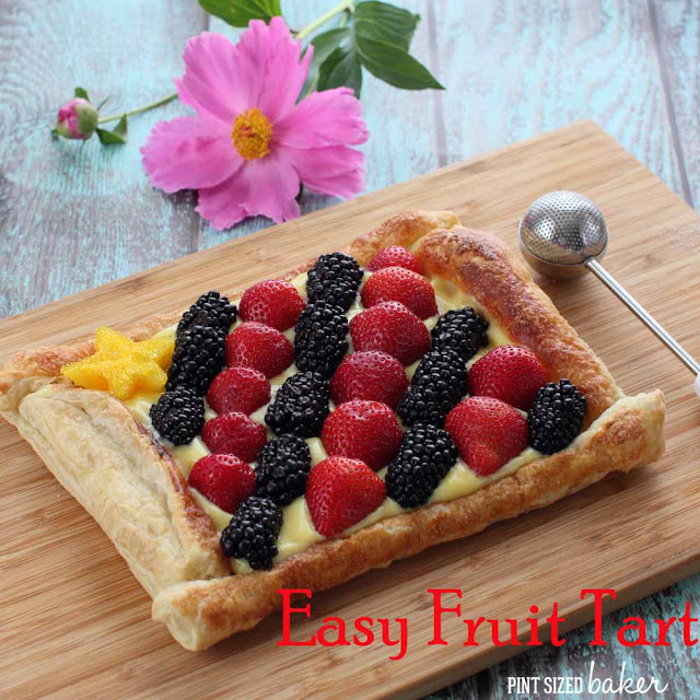 Easy Fruit Tart in Puff Pastry