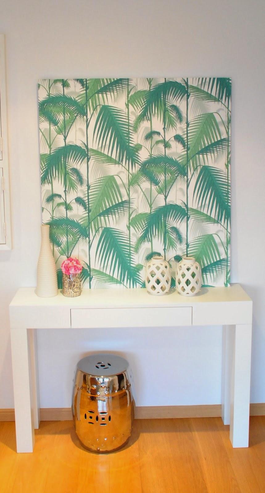White glam como fazer um painel de papel de parede - Paredes de papel ...
