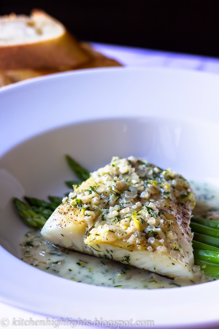 Pan seared halibut with lemon dill sauce is a simple dish that can be prepared with a few flavorful ingredients