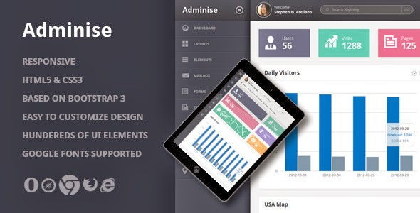 download responsive admin template