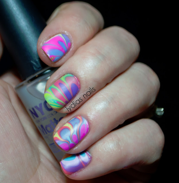 water marble purple