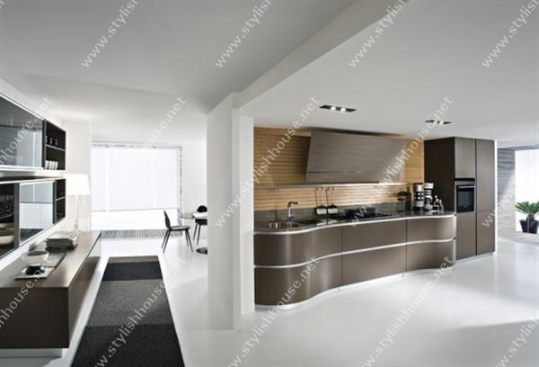 Modern WOoden finishing Modern And Luxury Italian Kitchen Design