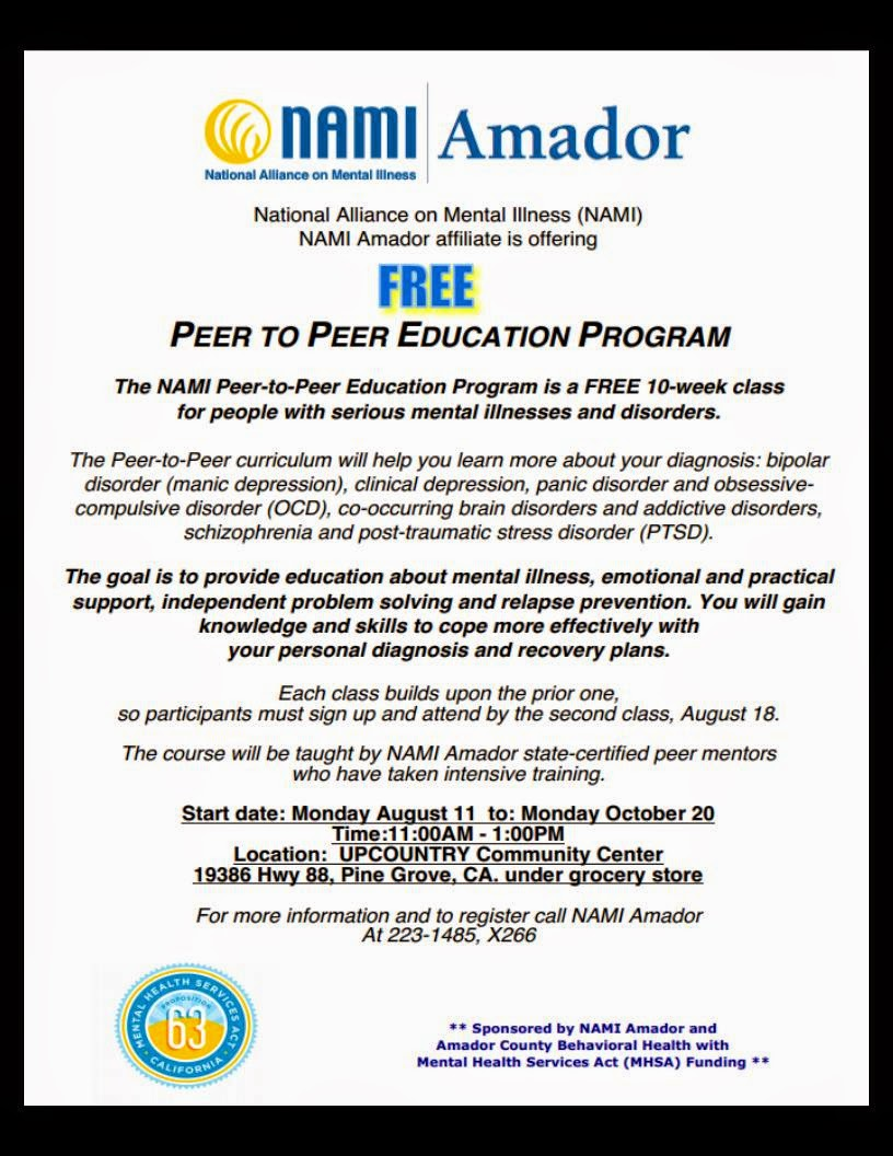 FREE NAMI Peer-To-Peer Course - Begins Aug 11