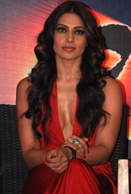 Bipasha Basu Long Center-Part Hairstyle