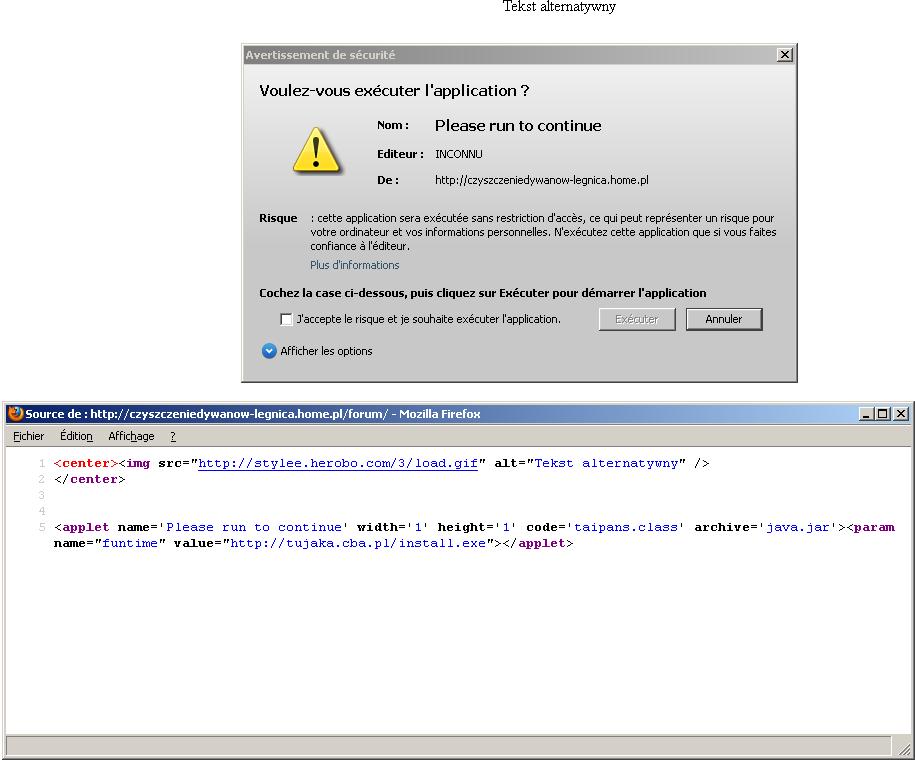 accéder code page web