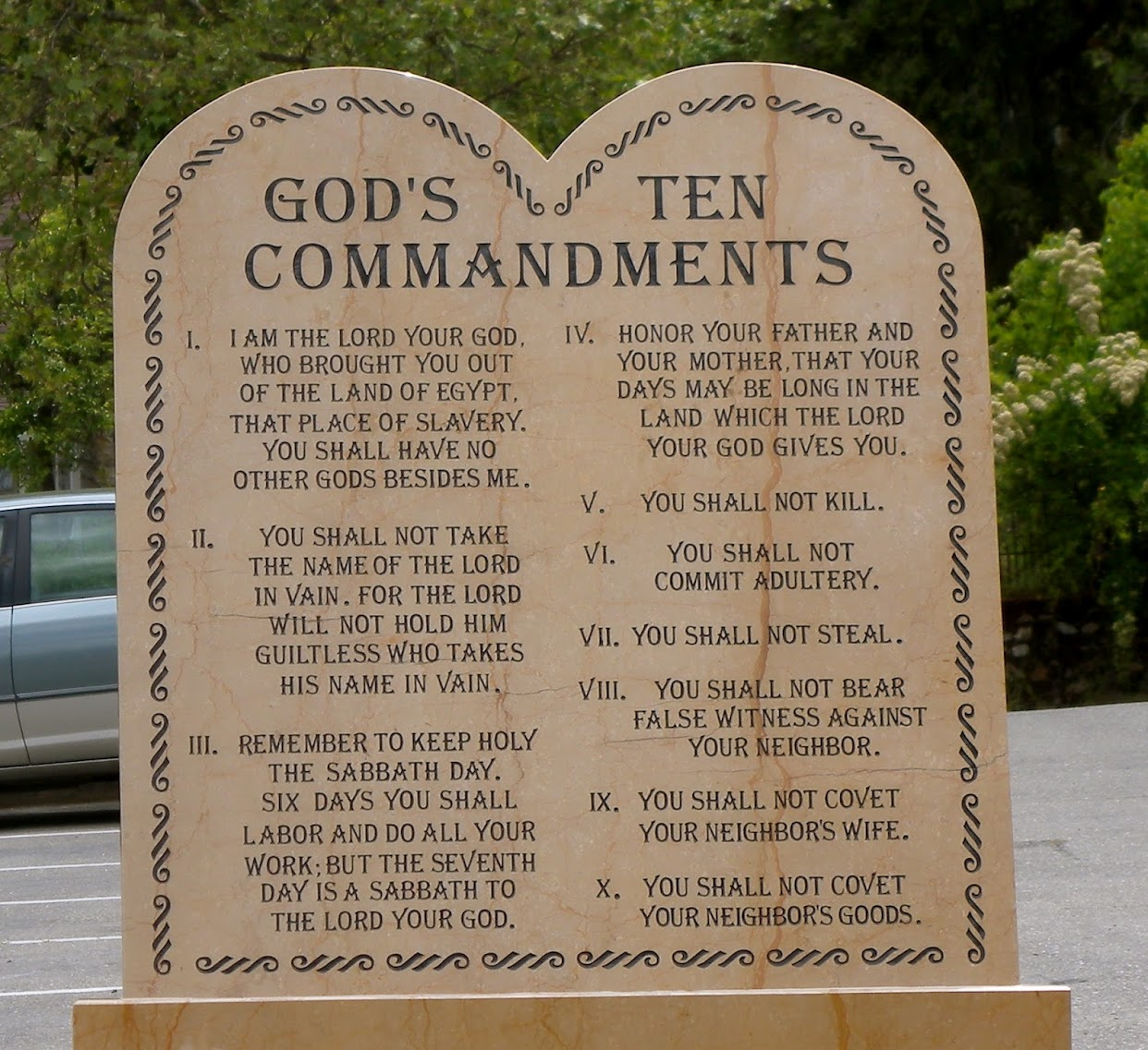 the ten commandments is meaningless for The ten commandments, or the decalogue, are a set of laws which were given to moses by god, as found in the books of exodus and deuteronomy the biblical text of the ten commandments is differently divided according to denominational traditions.