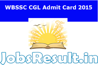 WBSSC CGL Admit Card 2015