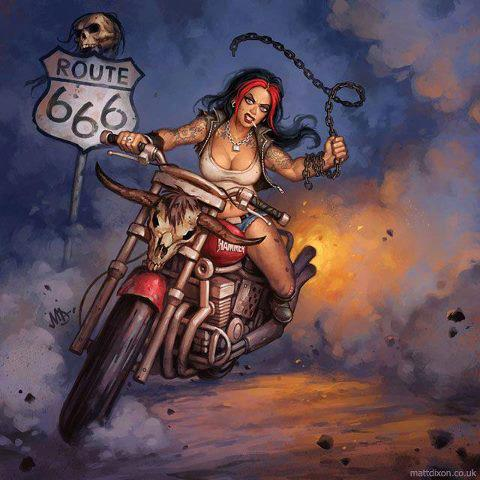 Desenho de Mulheres de moto, anime de moto, anime of babes on bike, design of Women on bike