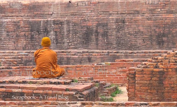 Meditating monk Khushinagar Uttar Pradesh India