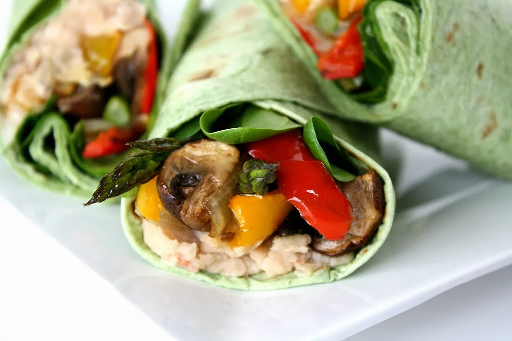 The Garden Grazer: Roasted Veggie Wrap with Bean Spread