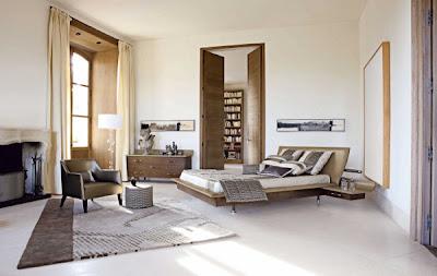 Diseño dormitorio colores tierra