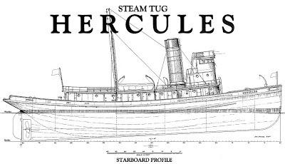 free, ship, plan, historic, steam, tug, Hercules, boat, vessel, steel
