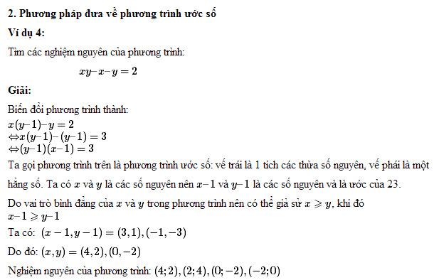 ôn thi toán lớp 9 - các phương pháp tìm nghiệm nguyên : tính chia hết, tính đồng dư