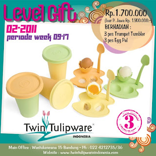 Level Gift 3 Tulipware | Maret - April 2011