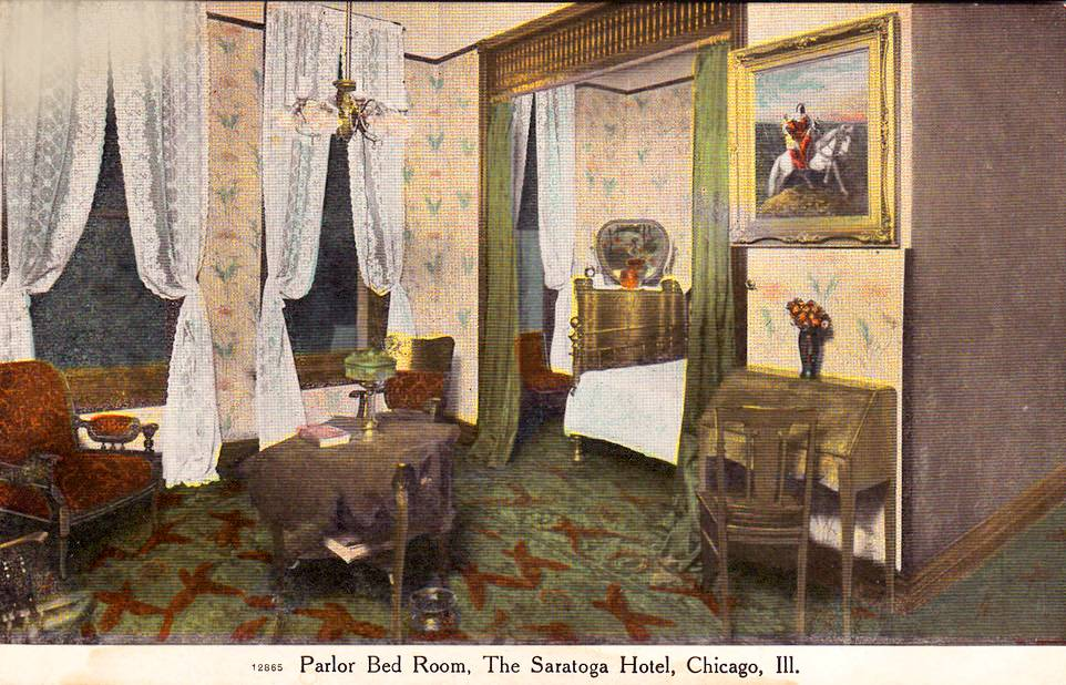 Chuckman 39 s collection chicago postcards volume 08 for Saratoga hotel in chicago