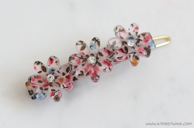 Accessorize flowery hair pin