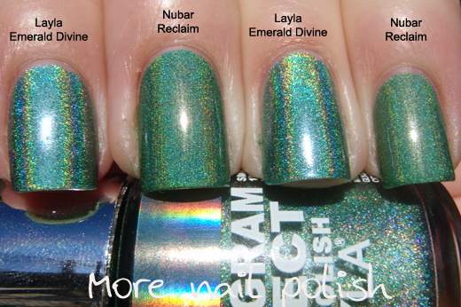 Layla Purple Illusion Is Really Close To China Glaze Qt The Holo Effect In Much Stronger And Because Of Rainbow Fire It Makes