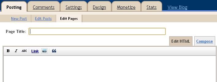 Tutorial, Tutorial Blog, Tutorial Page, Tutorial Tab, Cara Buat Page di Blog, Cara Buat Tab di Blog