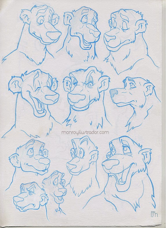Character design (Expressions) Blue Pencil