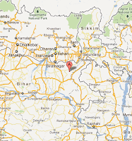 """earthquake_in_nepal_india_border_google_map_shoowing_epicenter_area"""