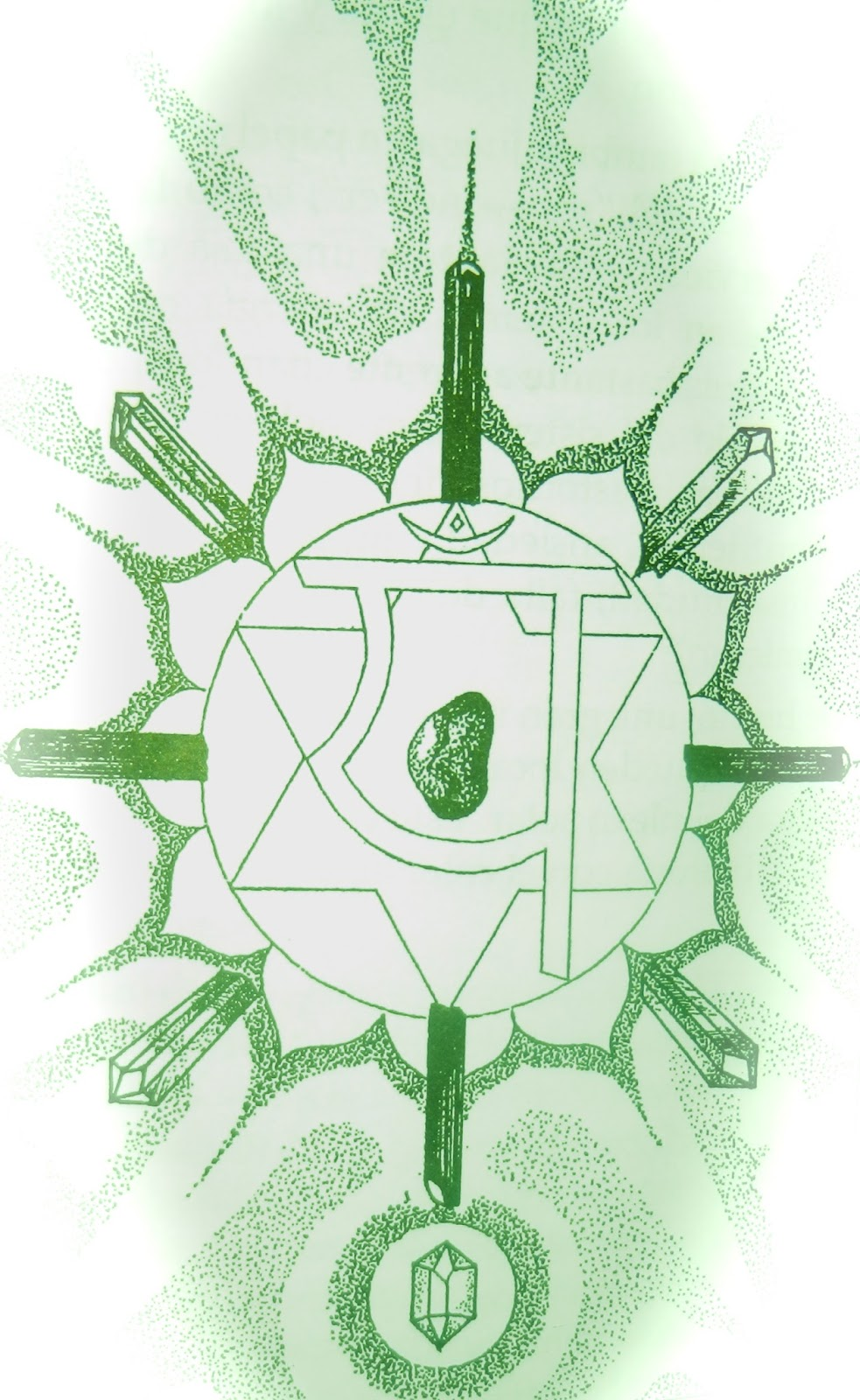 """Esencia del Ser: Red con cristales """"Anahata"""" para el cuarto chakra."""