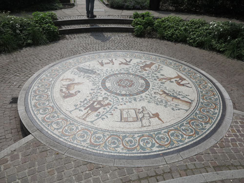 Roman Gardens mosaic Chester
