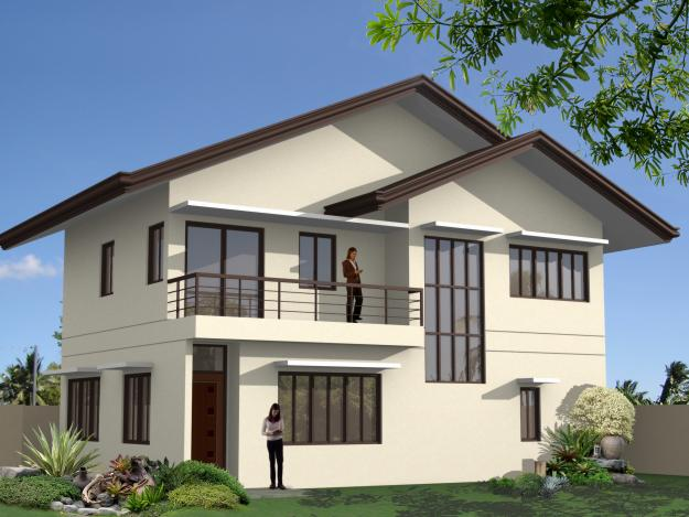 Pictures of ready made house plans modern house plans for Home designs philippines