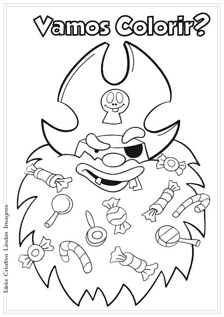 A Turma do Bairro - Grudento desenho para colorir