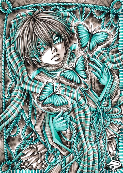13-Morpho-in-Turquoise-Sandra-Filipova-DarkSena-Manga-Black-and-White-and-Colour-Detailed-Drawings-www-designstack-co