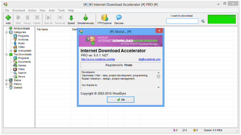 Download IDA Internet Download Accelerator 6 full version free