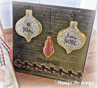 SRM Stickers Blog - Christmas Card by Angelique - #cards #christmas #fancy #stickers