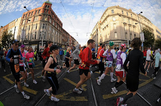 Runners on O'Connell Street during Dublin's half marathon  (Photo: MyCharity.ie)