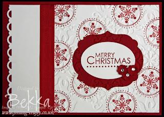 Cute Season of Joy Christmas Card by Bekka check www.feeling-crafty.co.uk for more ideas