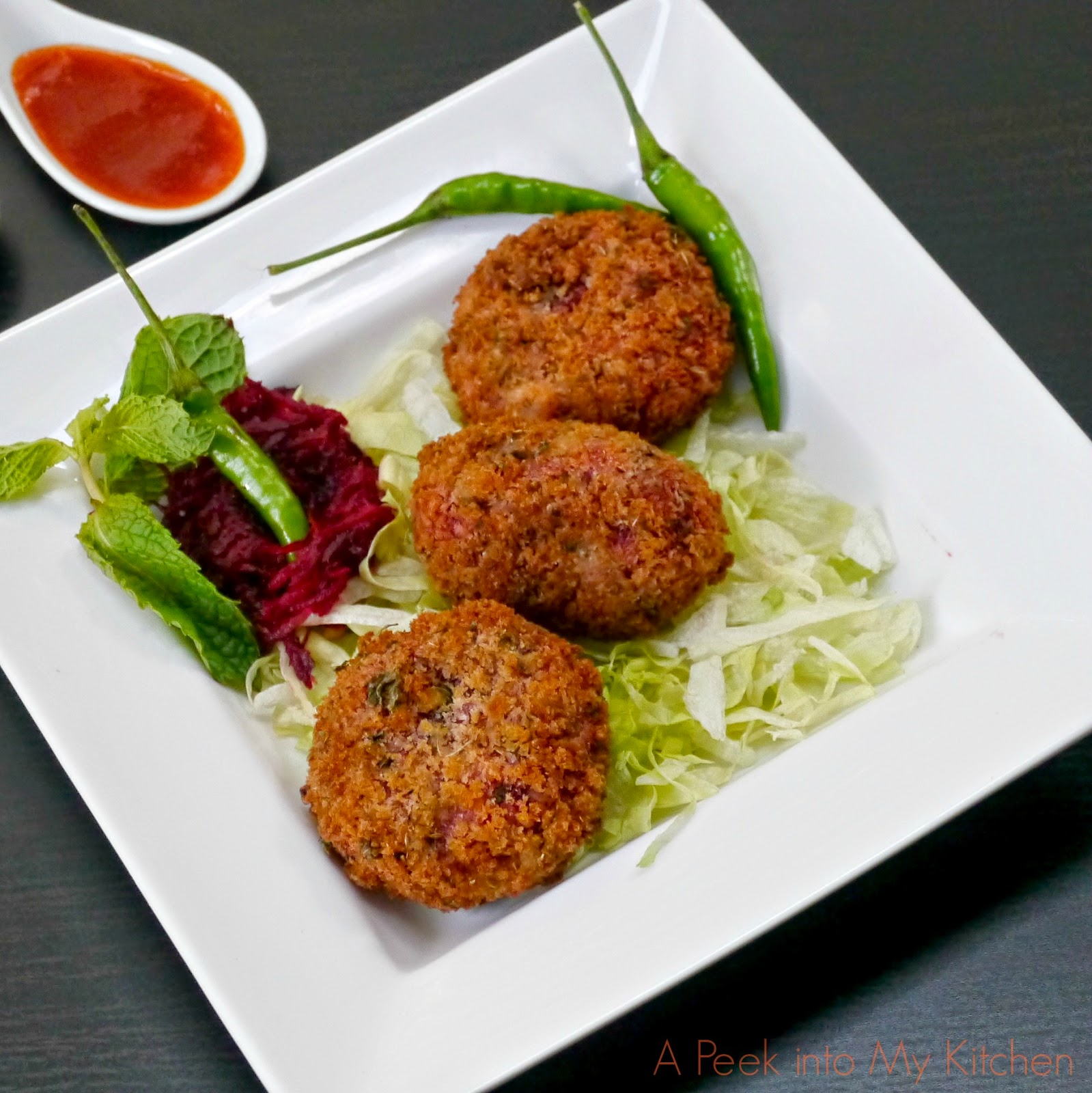 Beetroot Cutlet / Tikki