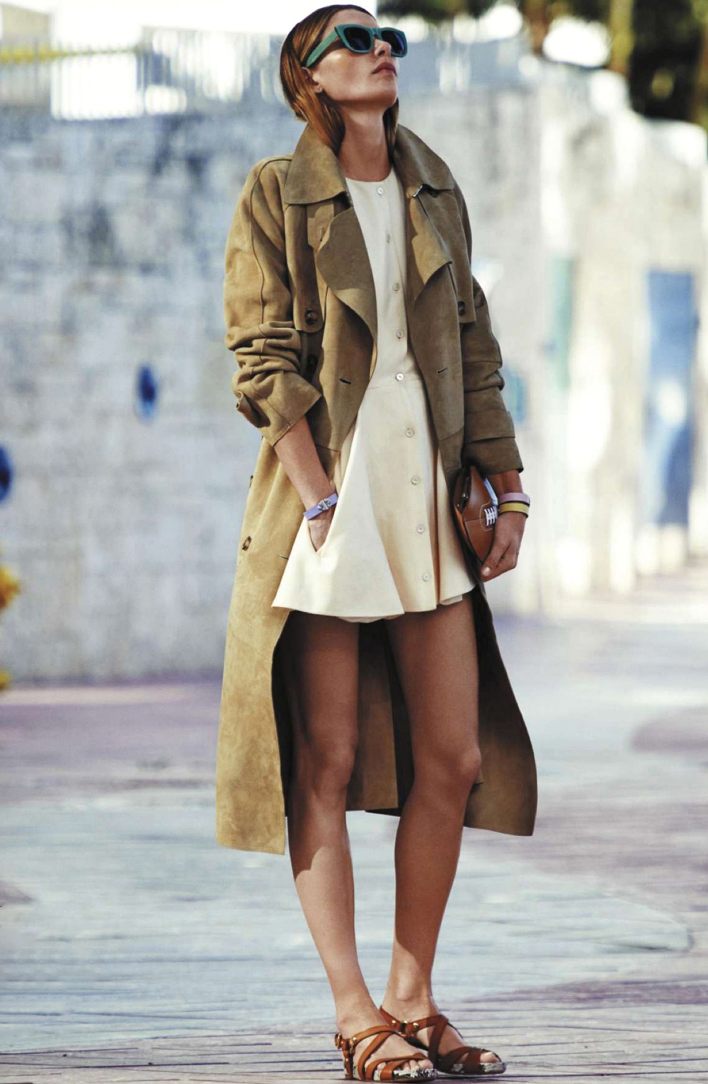 Outfit inspiration from L'Officiel Paris March 2014 - another stylish way to wear trench