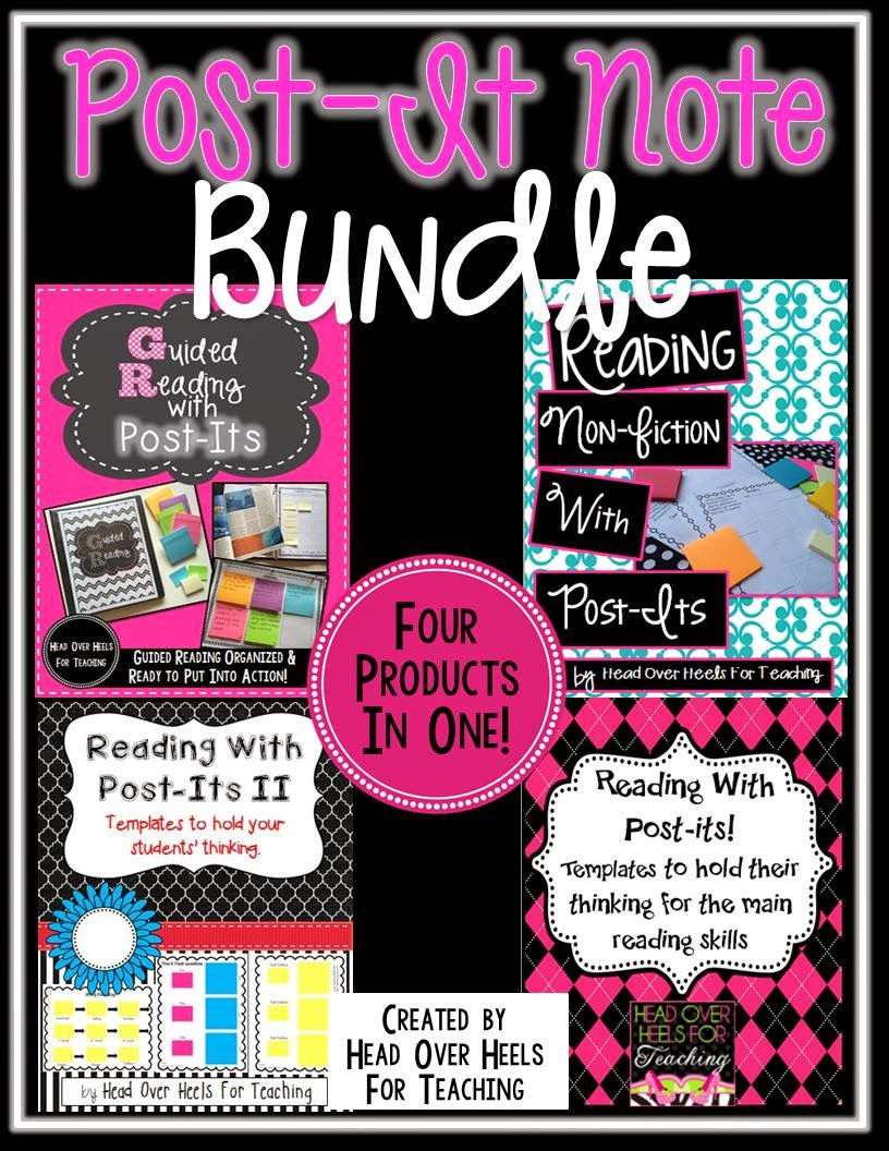 http://www.teacherspayteachers.com/Product/POST-IT-BUNDLE-Templates-to-Hold-Their-Thinking-1333392