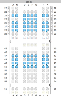 Interesting new seat map for JAL's 787 Dreamliners