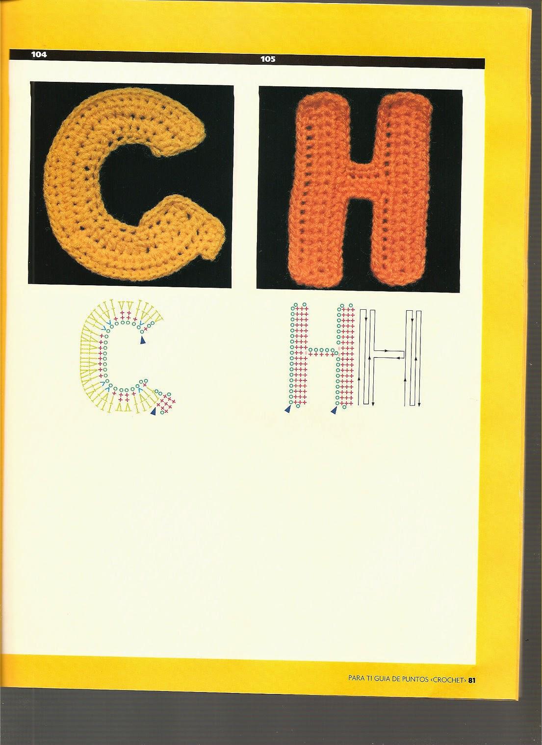 """Letras crochê - Alfabeto crochê ~ """"Crochê da Mimi"""""""