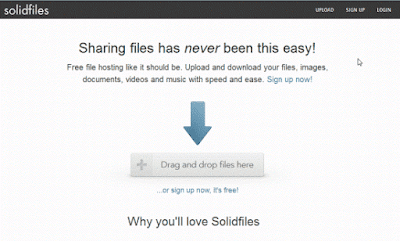 upload file data ke internet situs solidfiles.com