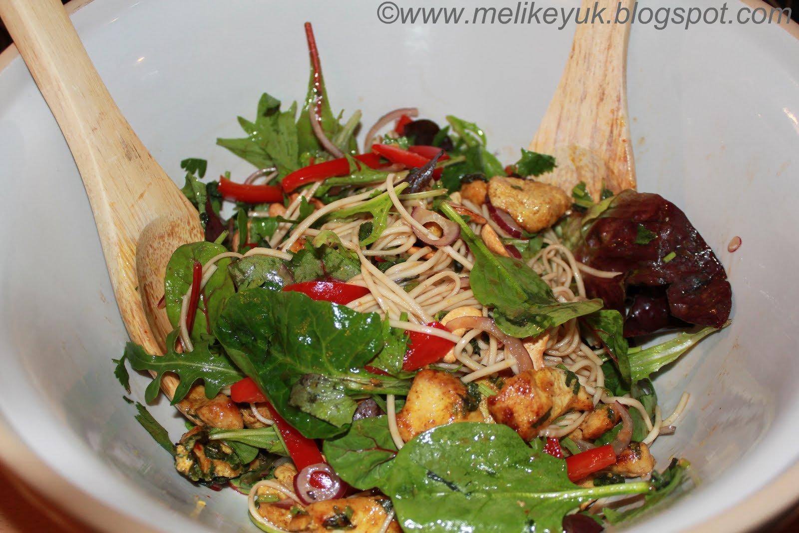 Spicy Chicken Salad with Coriander, Mint & Noodles