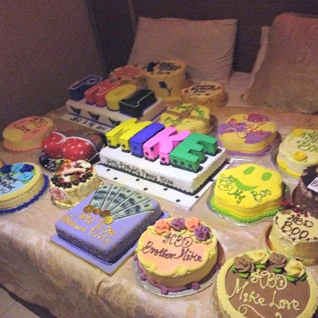 So This Guy Received Many Birthday Cakes From Different Girls