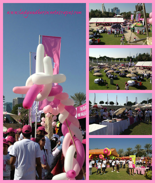 pinltastic morning at_the Pink Walkathon