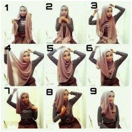 Tutorial Hijab Pashmina Sifon Glamour