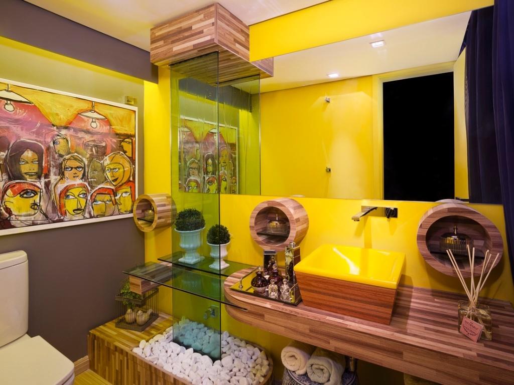 CASA MIDDAS: O amarelo na decoração de sua casa #BD9C0E 1024x768 Banheiro Com Detalhes Em Amarelo
