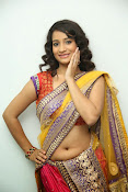 santoshini sharma photos in half saree-thumbnail-14