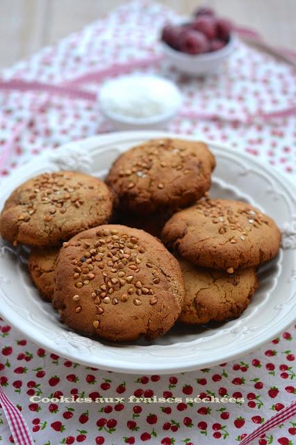 cookies aux fraises IG bas