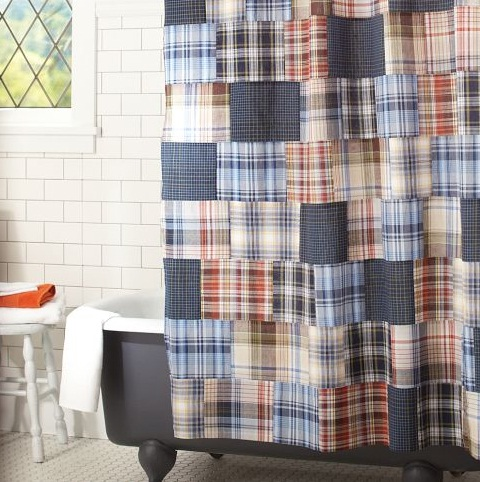 probably not martha patchwork plaid shower curtain