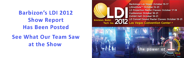 Barbizon Lighitng Company LDI 2012 Show Report