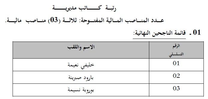 إعلان قائمة الناجحين في مسابقة التوظيف في وزارة التجارة ماي 2014 5.jpg